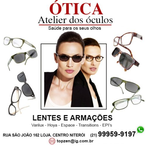 a95ac9ee2 Ótica no Centro de Niterói – Atelier dos Óculos